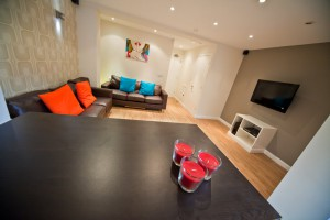 View of Living Room in Preston Student Accommodation