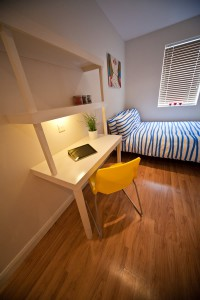 Desk in Luxury Bedrooms in Preston Student Housing