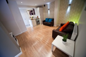 University Accommodation in Preston Living Area