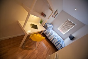 Bedroom in Accommodation for Students at UCLAN