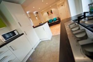 View of Kitchen in Preston Student Accommodation