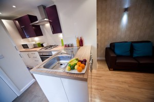 Kitchen in UCLAN Accommodation