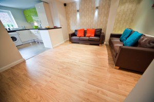 Whole View of Living Room in Preston Student Accommodation