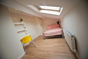 View of Bed Area of Bedroom in Preston Student Accommodation