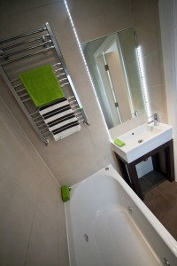 View of Bathroom in Preston Student Accommodation